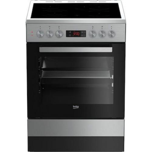 Κεραμική Κουζίνα Beko FSM 67320 DXT Inox Α