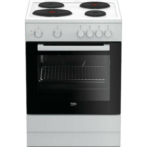 Κουζίνα Eμαγιέ Beko FSS 66001GW