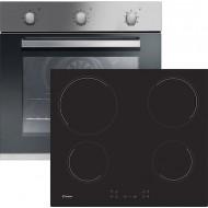 Κουζίνα Εντοιχιζόμενη με Κεραμικές Εστίες CANDY FCP602X + CH64CCB