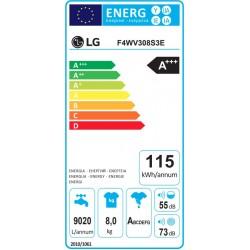 Πλυντήριο Ρούχων LG F4WV308S3E ατμού 8kg 1400rpm A+++ Πλυντήρια ρούχων