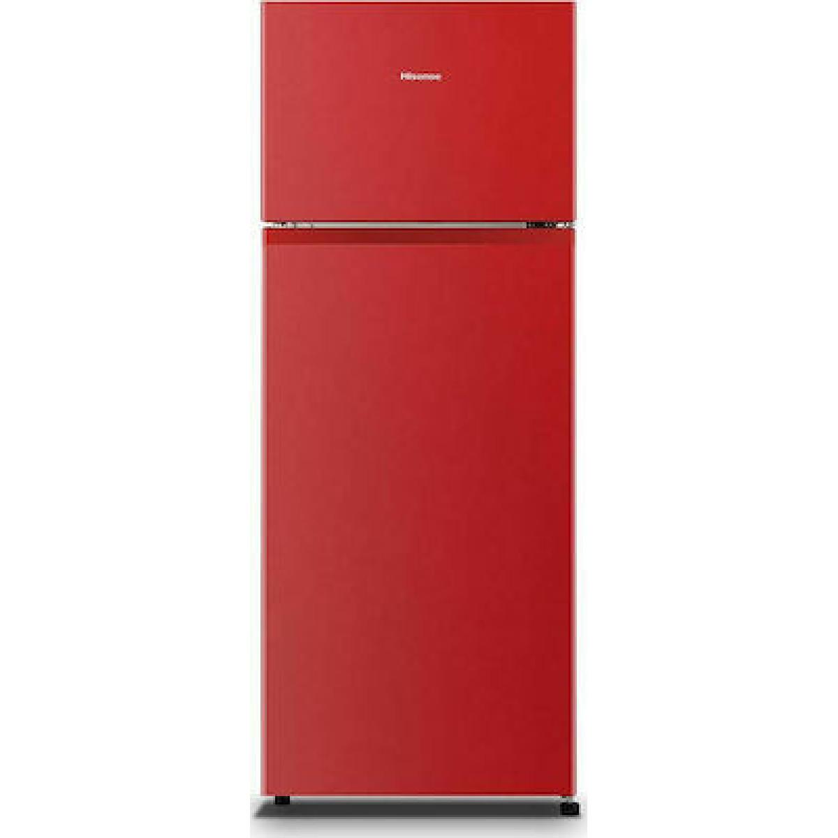 Δίπορτο ψυγείο Hisense RT267D4ARF 205Lt 60cm RED F Ψυγεία δίπορτα
