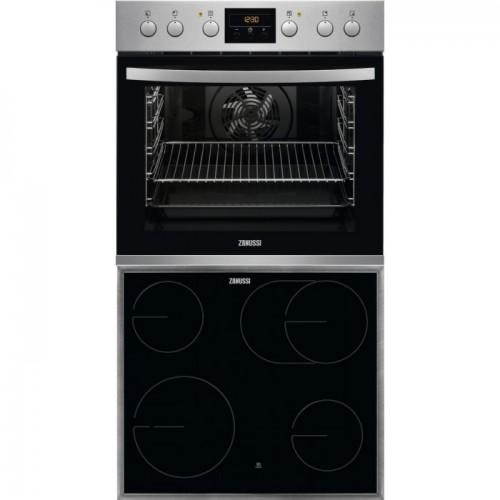 Σετ εντοιχιζόμενο Zanussi ZOU35802XU+ZHDN670X inox κουζίνα+εστία