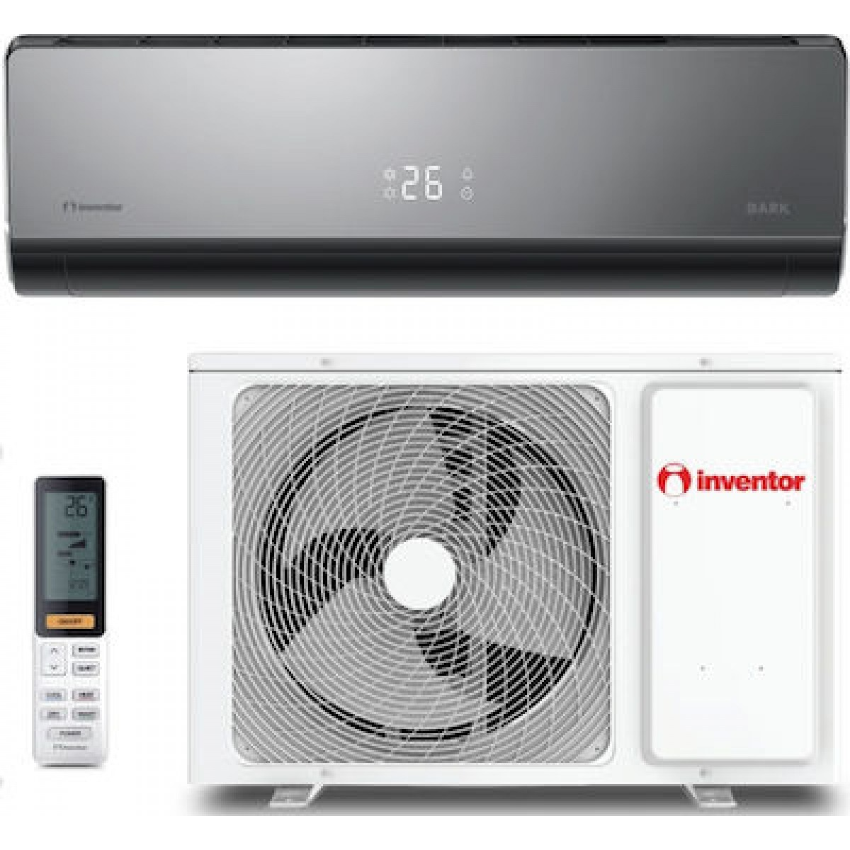 Inventor Dark DRVI32-09WF Θέρμανση, Κλιματισμός Ηλεκτρικες Συσκευες - homeelectrics.gr