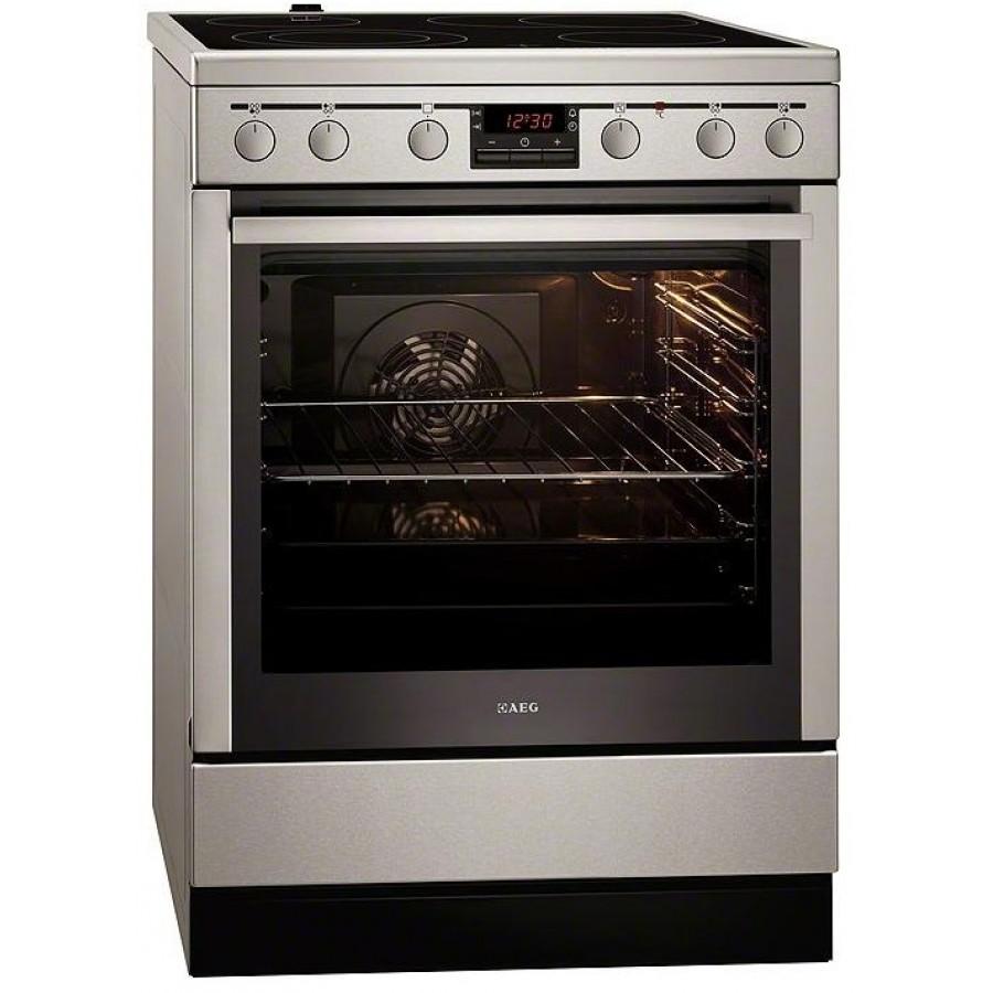Κουζινες - AEG 347056VS-MN Inox Κεραμική Κουζίνα 74L A-20% Κουζίνες κεραμικές Ηλεκτρικες Συσκευες - homeelectrics.gr