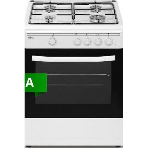 Ideal IDCG6400W Κουζίνα αερίου + grill αερίου