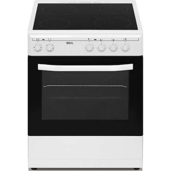 Ideal IDCM 6061 CEW κουζίνα με Κεραμική Εστία λευκή
