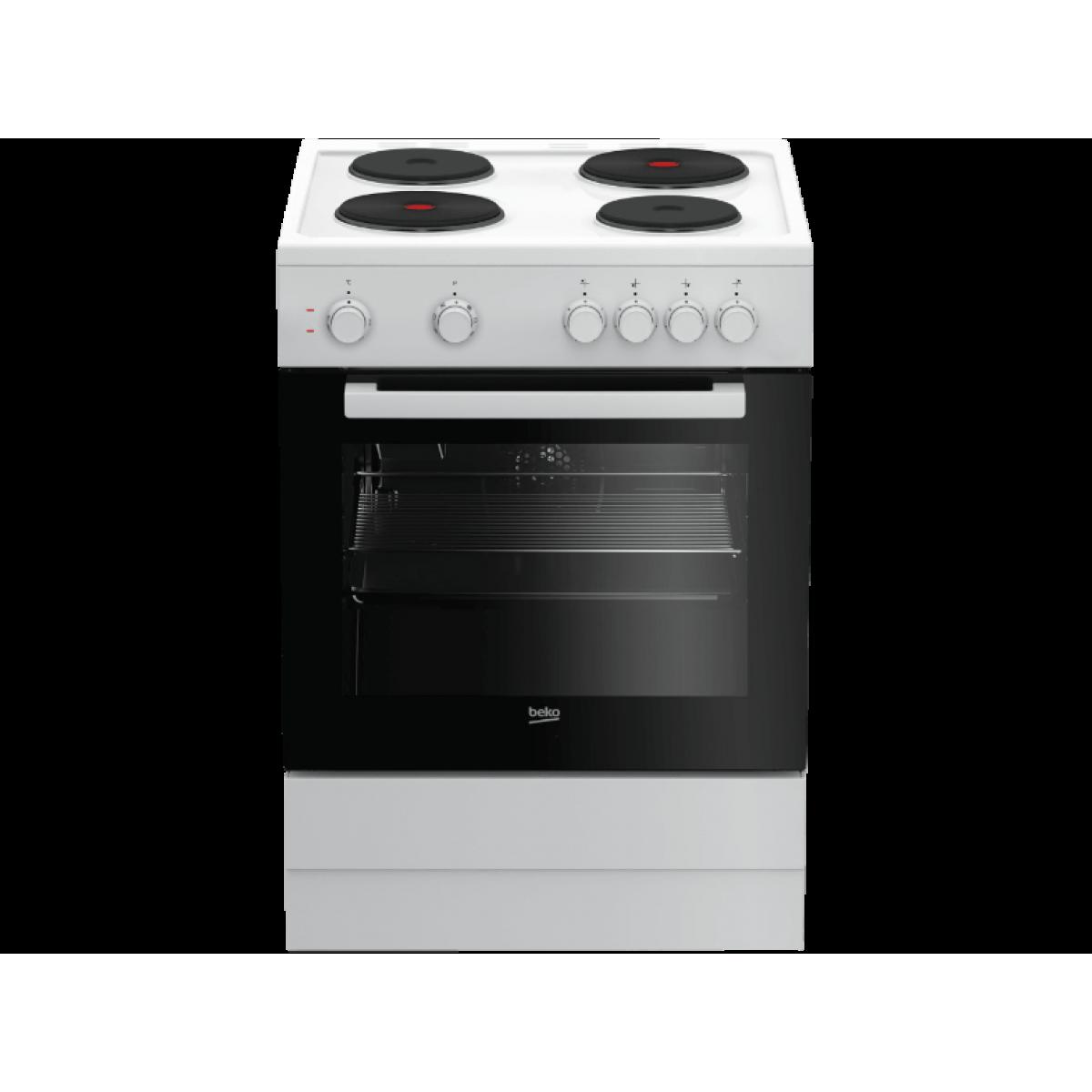 Κουζινες - Beko Κουζίνα Εμαγιέ FSM 66001GW Κουζίνες εμαγιέ Ηλεκτρικες Συσκευες - homeelectrics.gr