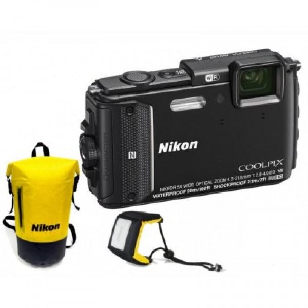 Nikon Coolpix AW130 Black Diving kit