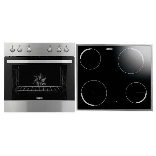 Zanussi Σετ εντοιχιζόμενη κουζίνα με εστία inox  ZOU 30602 XK + ZEV6040XBA